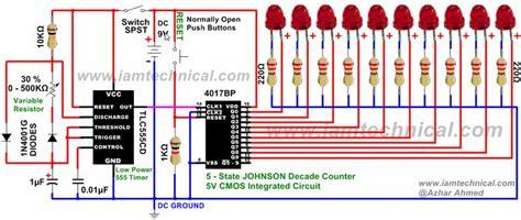 timer clock pulses  johnson decade counter