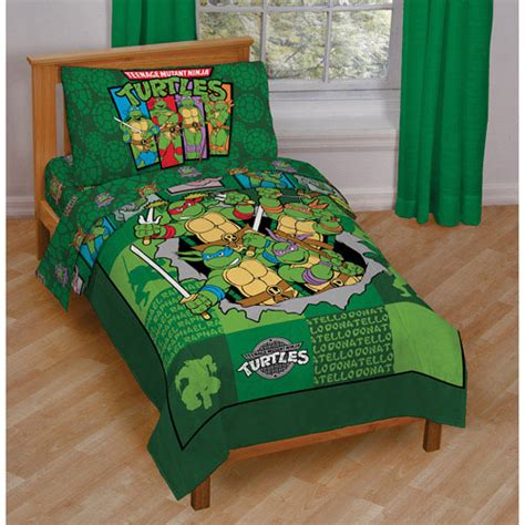 toddler comforter size teenage mutant ninja turtles toddler bedding set 4pc
