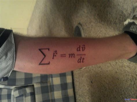 physics tattoo newton second physics on leg