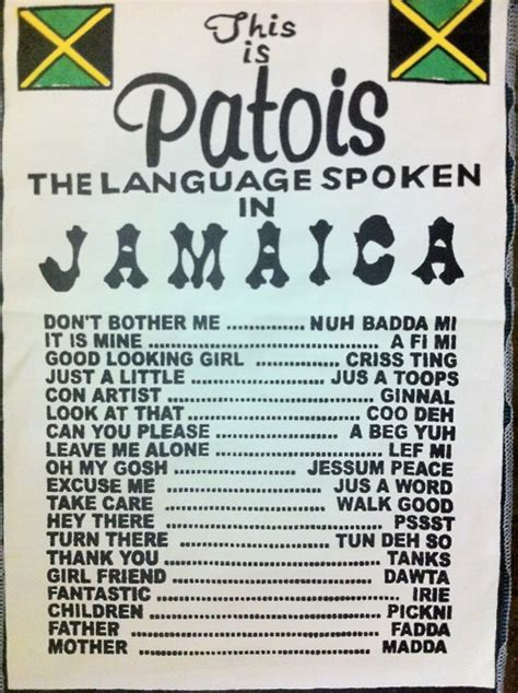 How To Speak Patios by Patois Greetings Welcome To Jamdung Patoistoraatid