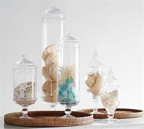 glass apothecary jars pb classic glass apothecary jars pottery barn