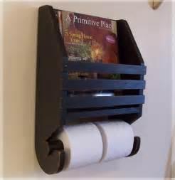 primitive magazine rack toilet paper holder farmhouse storage