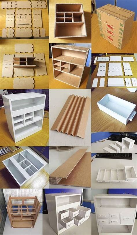 desk with drawers is made out paper box muebles de