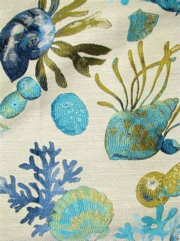 sea life upholstery fabric sanibel lagoon luxury tapestry jacquard fabric sea life