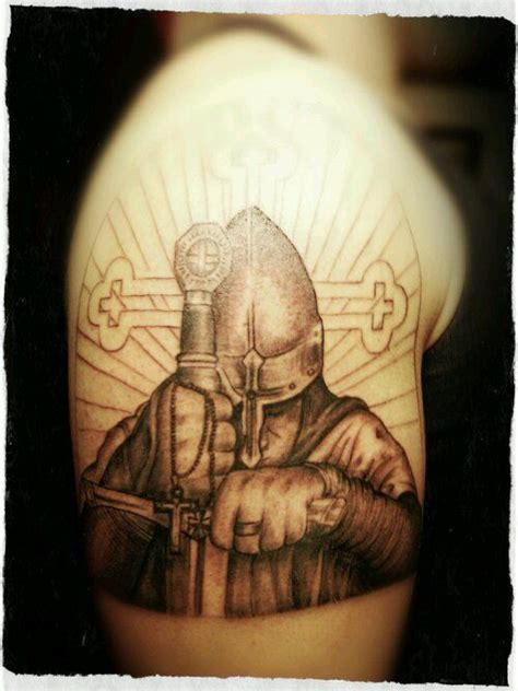 crusader tattoo yet unfinished robert pinterest