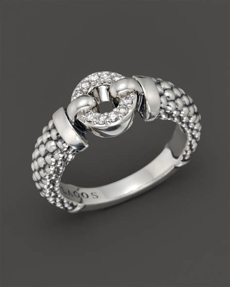lagos enso ring in sterling silver in silver