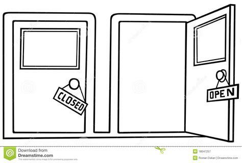 Open door images clip art door open and close black