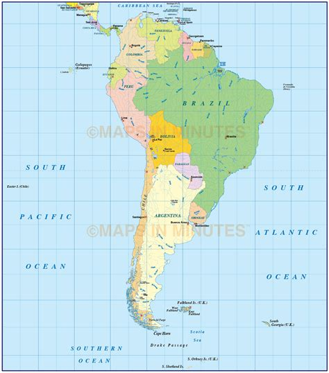 south map vector south america political map in ai illustrator and