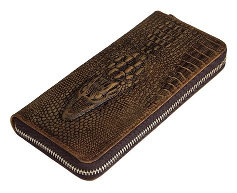 Mw23 Pattern Design Wallet Brown nesitu brown color vintage alligator pattern leather size wallet genuine