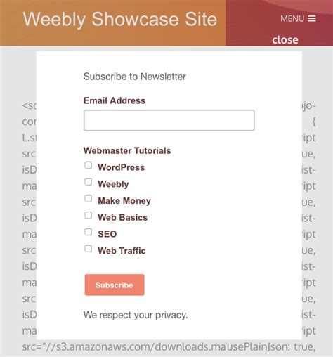 mailchimp confirm subscription template mailchimp newsletter subscription for weebly 187 webnots