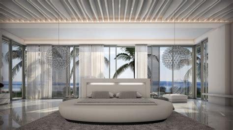 Pouf Exterieur 822 by Lit Moderne Rond Simili Cuir Blanc Kovel Avec Lumi 232 Re