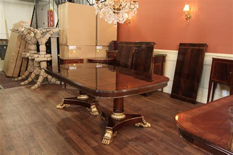 big dining room tables large and wide high end american made mahogany dining room table ebay