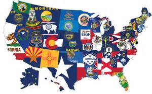 united states map with state flags what america wants tenth amendment center