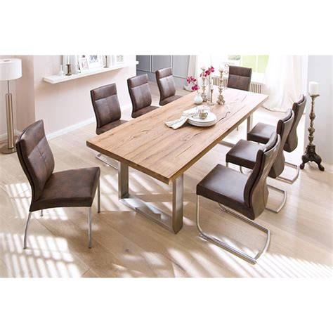 Capello Solid Oak 8 Seater Dining Table With Edward Chairs 8 Seater Dining Table And Chairs