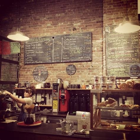 coffee shop wall design i love the brick and chalk boards retail space