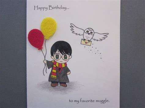 harry potter inspired birthday card  abitofimagination
