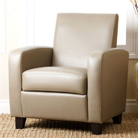 Grey Leather Club Chair by Abbyson Living Grey Mercer Bonded Leather Club Chair