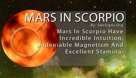 mars in scorpio sun signs