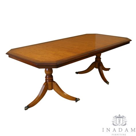 Yew Dining Table Inadam Furniture 187 6 6 Inadam Dining Table Mahogany Yew Reproduction Furniture