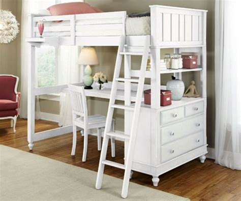 17 Spiffy White Loft Bed With Desk Designs White Loft Bed Desk