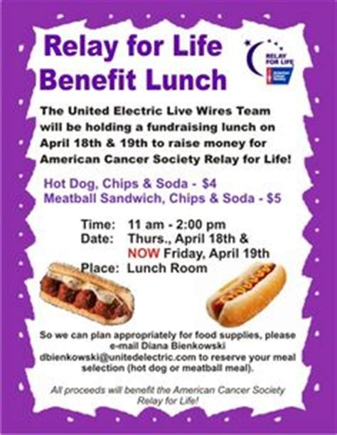 relay for flyer template image gallery lunch fundraiser flyer