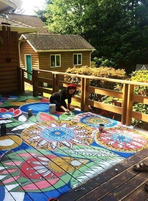 american hippie boheme boho lifestyle mandala painted