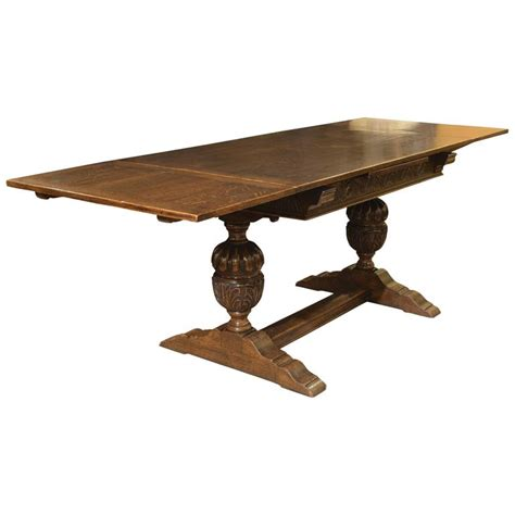 what is a draw leaf table carved oak draw leaf table for sale at 1stdibs