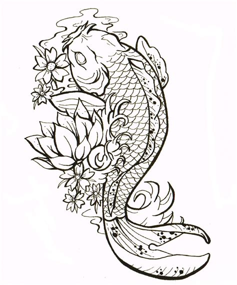 no outline tattoo no outline style gemma louise hawkins koi carp