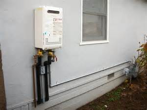 frozen pipes tankless water heater what do i do