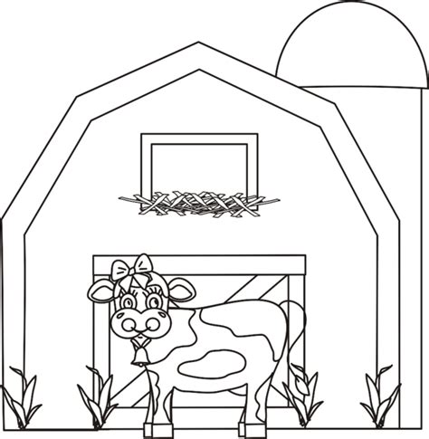 Dairy Barn Free Coloring Pages Barn Coloring Page