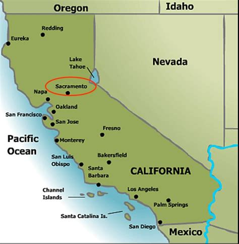 sacramento california map the of sacramento
