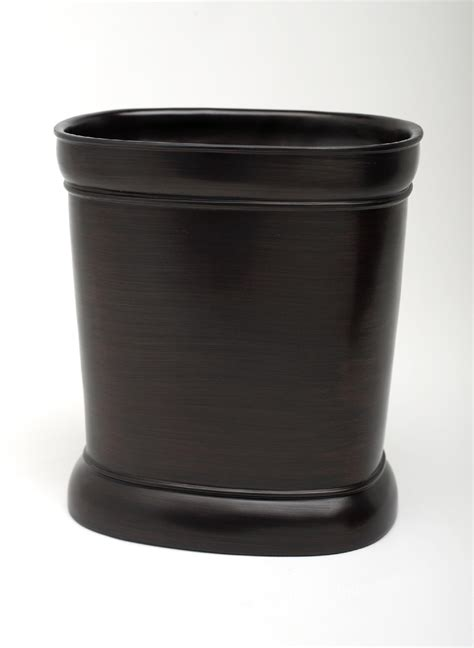 oil rubbed bronze bathroom trash can india ink marion waste basket oil rubbed bronze