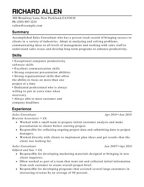 sle of functional resume retail functional resumes resume help