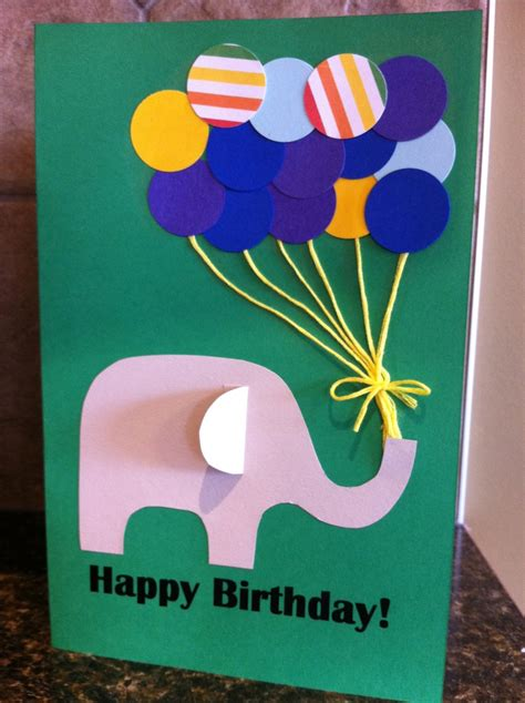 Paper Craft Ideas For Greeting Cards - paper punch balloon birthday card my kid craft