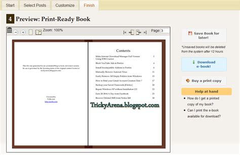 ebook novel format pdf tricky arena convert a blog into an ebook pdf format