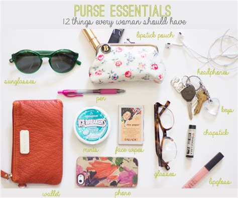12 Things Every Should In Purse what 27s in you purse 3f jpg format 1000w