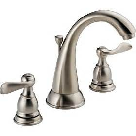 Delta Brushed Nickel Kitchen Faucet Delta Foundations 35996lf Bn Two Handle Widespread