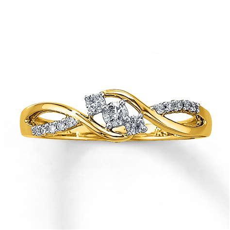 jared promise ring 1 5 ct tw cut 10k