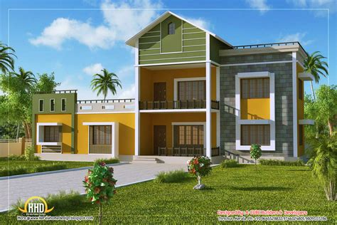 2 storey house with rooftop design 2 story sloping roof house 1700 sq ft kerala home design and floor plans