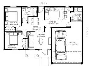 Floor Plans For 1100 Sq Ft Home by Ranch Style House Plan 2 Beds 1 5 Baths 1100 Sq Ft Plan