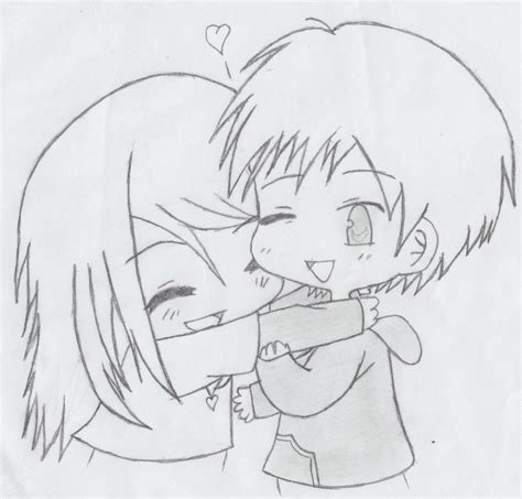 cute cuple hug and kissing sketch pics how to draw couples hugging