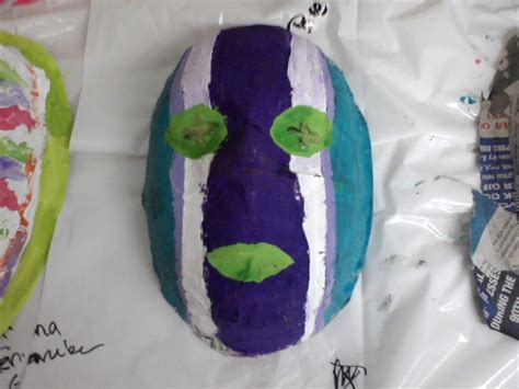 How To Make Paper Mache Masks - how to make paper mache masks with fifth grade students