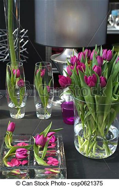 tulpen im glas dekorieren stock bilder inneneinrichtung tulpen tulpen in
