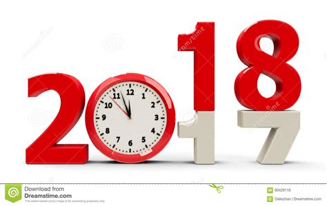 new year 2018 end date 2017 2018 clock stock illustration illustration of