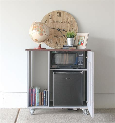 Diy Mini Refrigerator Storage Cabinet Free Plans