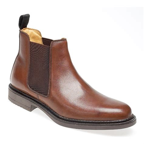 mens brown chelsea boot mens brown real leather chelsea boot ebay