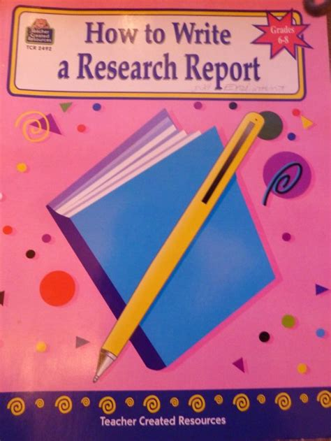 how to write a report on a research paper middle school writing how to write a research report
