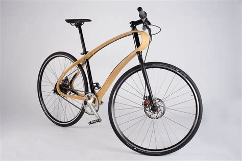 wooden bike with unibody frame made by jan