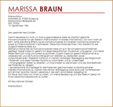 Bewerbung Beispiel Als Krankenschwester 11 Bewerbungsschreiben Krankenschwester Deckblatt Bewerbung