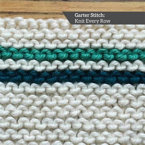 how to finish a row of knitting how to knit garter stitch